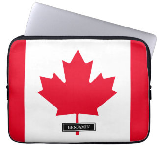 Classic Canada Flag Computer Sleeve