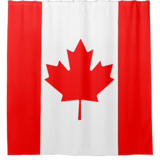 Classic Canada Flag Maple Leaf Shower Curtain