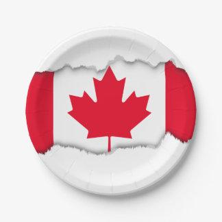 Classic Canada Flag Paper Plate