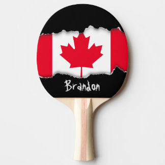Classic Canada Flag Ping Pong Paddle