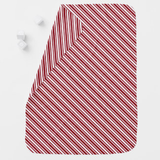 Classic Candy Cane Stripe Baby Blanket