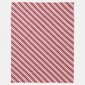Classic Candy Cane Stripe Fleece Blanket