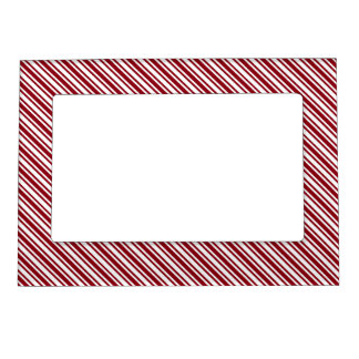 Classic Candy Cane Stripe Magnetic Picture Frames