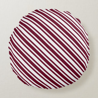 Classic Candy Cane Stripe Round Cushion