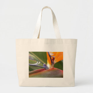 Classic Canvas Bag, Bird of Paradise Design Large Tote Bag