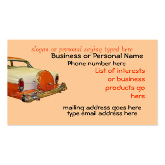 Classic Car22Card-customize it Double-Sided Standard Business Cards (Pack Of 100)
