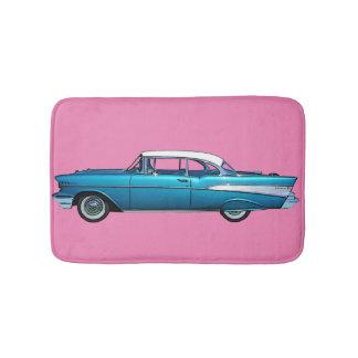 Classic car 1957 Chevy BelAire custom bathmat