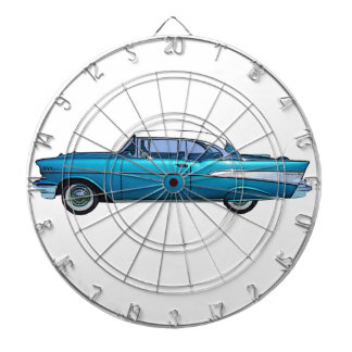 Classic car 1957 Chevy BelAire custom dartboard