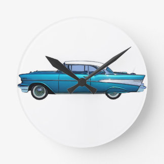 Classic car 1957 Chevy BelAire Round Clock