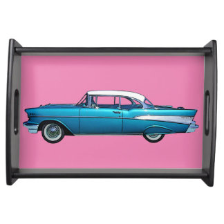 Classic car 1957 Chevy BelAire serving tray