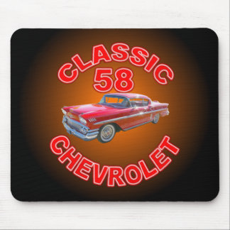 Classic Car 1958 Chevy Mousepad. Mouse Pad