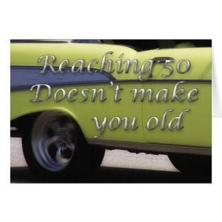Classic Car 50th Birthday Card