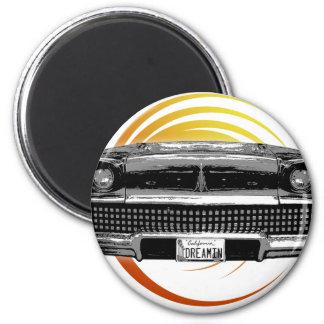 Classic Car 6 Cm Round Magnet
