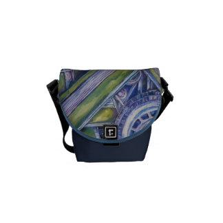 Classic Car Art Messenger Bag