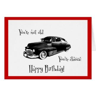 Classic Car Birthday Card