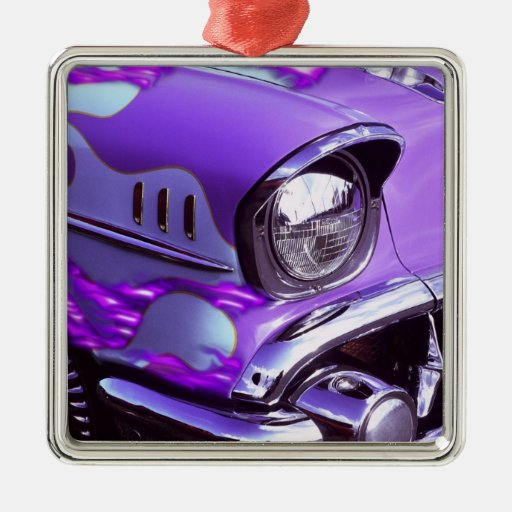 Classic car: Chevrolet with flaming hood Ornaments
