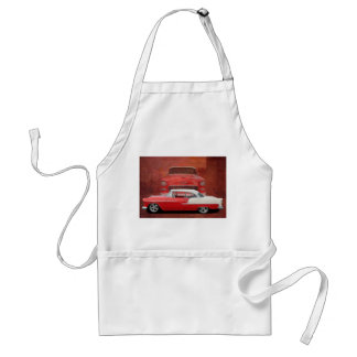 Classic Car Chevy Bel Air Red Vintage Oldtimer Standard Apron