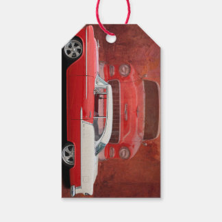 Classic Car Chevy Bel Air Red White Vintage Dodge Gift Tags