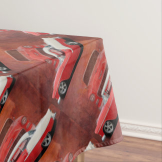 Classic Car Chevy Bel Air Red White Vintage Dodge Tablecloth