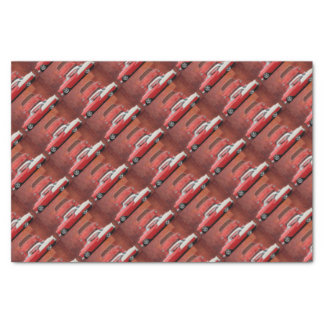 Classic Car Chevy Bel Air Red White Vintage Dodge Tissue Paper