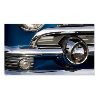 Classic Car Chrome Closeup Business Card