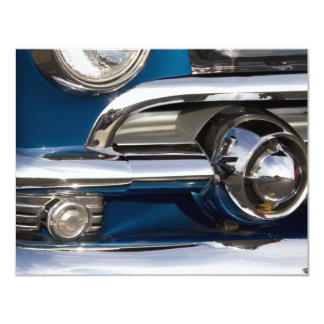 Classic Car Chrome Closeup Card