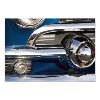 Classic Car Chrome Closeup Personalized Invitation