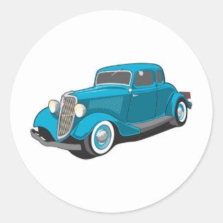 Classic Car Classic Round Sticker