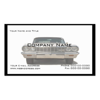Classic Car Collector Business Card