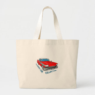 Classic Car Collector Large Tote Bag