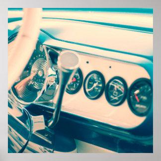 Classic Car Dash Poster