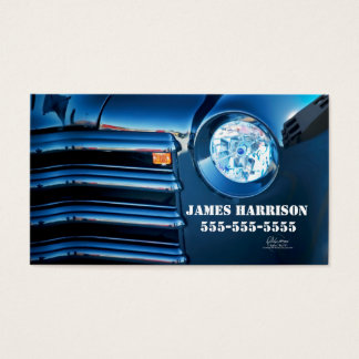 Classic Car Deep Blue Automotive Business Business Card