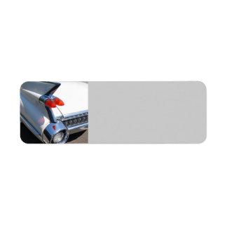 Classic Car Design Return Address Label