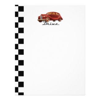 Classic Car Driver Flyer Design