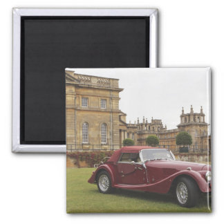 Classic car exhibition, Blenheim Palace Square Magnet