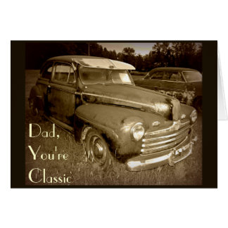 Classic Car Father's Day Card