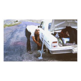 Classic Car Flat Tire Business Card