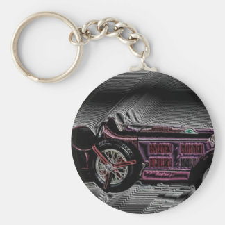 Classic car from Italy - digital Work Basic Round Button Key Ring