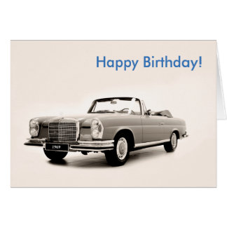 1969 birthday cards invitations for Mercedes benz card