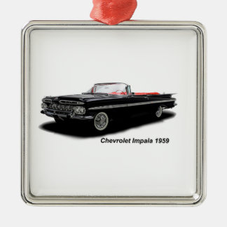 Classic Car image for Premium-Square-Ornament Silver-Colored Square Decoration