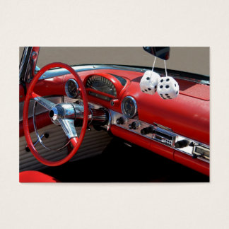Classic Car Interior Business Card
