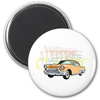 Classic car, old Chevrolet Bel Air in brown 6 Cm Round Magnet