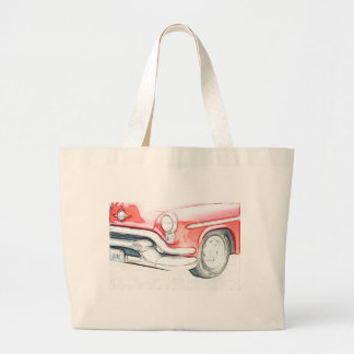 Classic Car red Canvas Bags