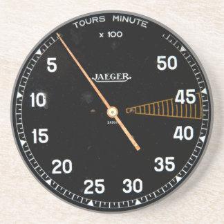 Classic car rev counter, vintage tachometer gauge coasters
