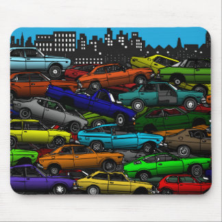 Classic car Scrapyard Mouse Mat