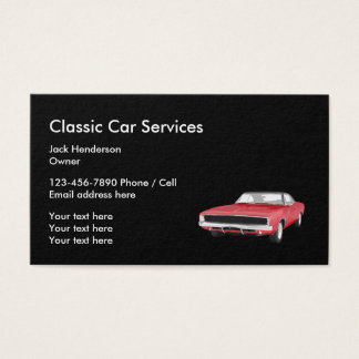 Classic Car Services And Restoration Business Card