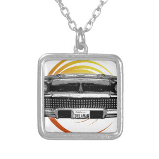 Classic Car Silver Plated Necklace