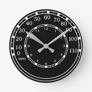 Classic Car Speedometer Clock