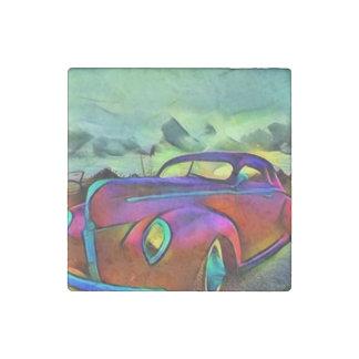 Classic Car Stone Magnet
