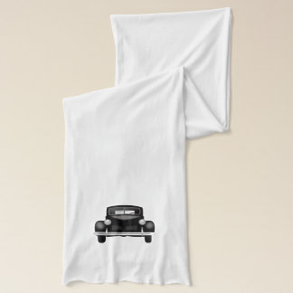 Classic Car Vehicle in Black Optional Wording Scarf